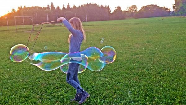 Riesenseifenblasenspaß